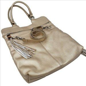 SORIAL NEW YORK Leather Fold-over Crossbody Bag